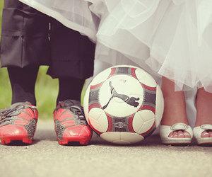 boy and girl, football, and szeretlek image