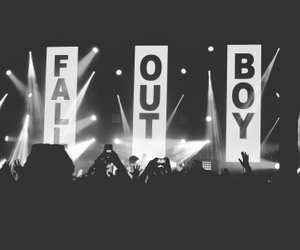 fall out boy, band, and black and white image