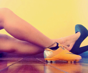 football, girl, and shoes image
