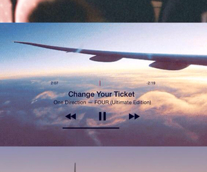 airplane, background, and ticket image