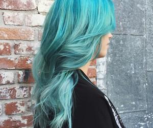 alt girl, dyed hair, and blue hair image
