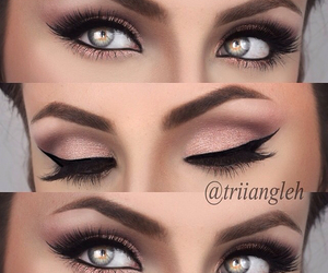 eyeliner, lashes, and makeup image