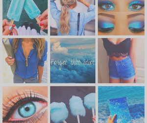 blue, Collage, and food image