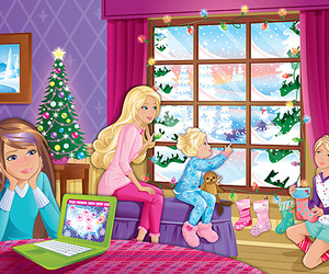 barbie, blond, and christmas image