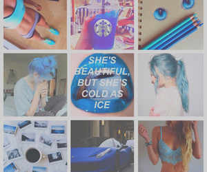 blue, Collage, and outfit image