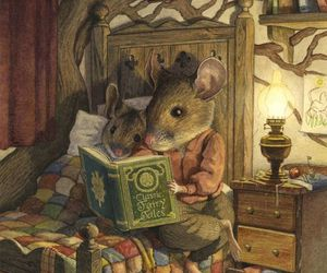 mouse, book, and illustration image