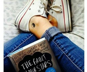 book, converse, and tattoo image
