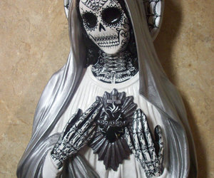 art, day of the dead, and Virgin Mary image