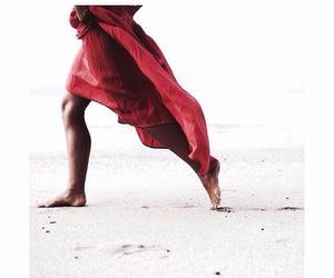 dress, feet, and girl image