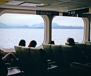 people, vintage, and sea image