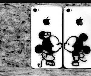 iphone, mickey, and kiss image