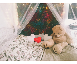 bedroom, girl, and hippie image