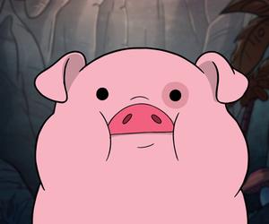 pig, gravity falls, and pink image