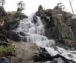 lake tahoe, travel, and waterfall image