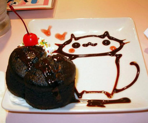 cake, chocolate, and cat image