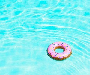 summer, blue, and pool image