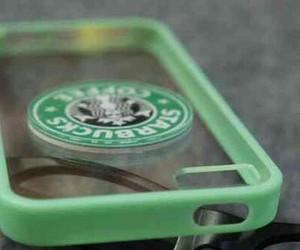 case, green, and starbucks image