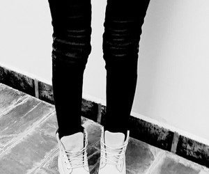 black and white, legs, and thig gap image