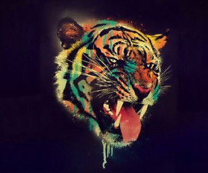 🐯 and cat tigger color paint image