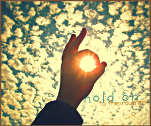 hand, sky, and motivational image