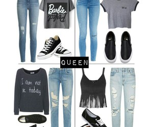 barbie, converse, and Polyvore image