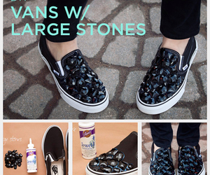 diy, shoes, and vans image