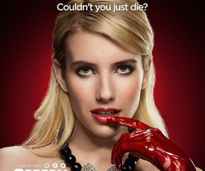 emma roberts, scream queens, and poster image