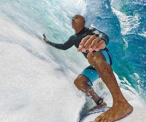 ocean, surf, and surfer image