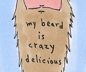 beard, delicious, and face image