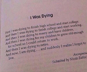book, dying, and life image