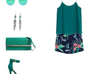 green, outfit, and Polyvore image