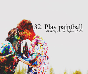 couple, kiss, and paint image