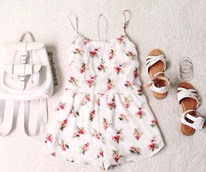 fashion, romper, and sandals image