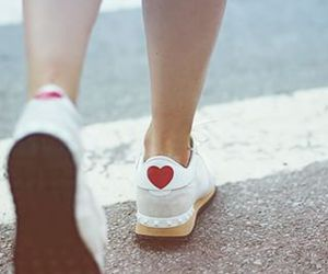 heart, shoes, and style image