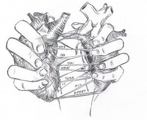 heart, broken, and art image