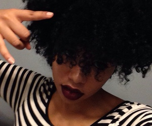 beautiful, black woman, and curly hair image