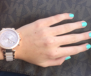 Michael Kors, nails, and purse image