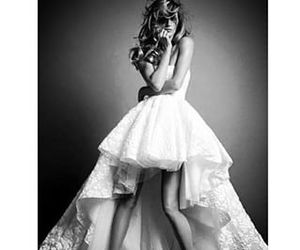 beautiful, black and white photography, and bridal image