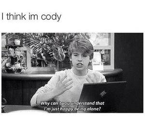 funny, alone, and cody image