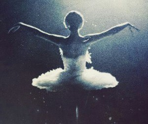 ballet, dance, and black swan image