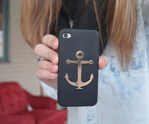 iphone, anchor, and black image