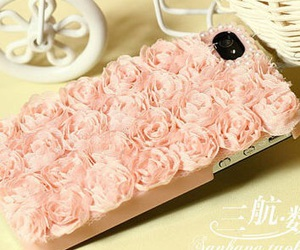 pink, rose, and iphone case image