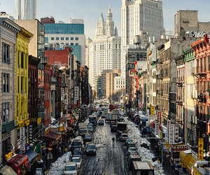 city, chinatown, and new york image