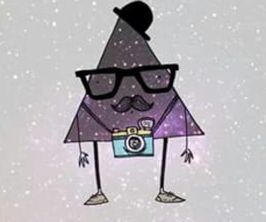 hipster, triangle, and mustache image