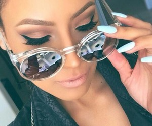 nails, sunglasses, and makeup image