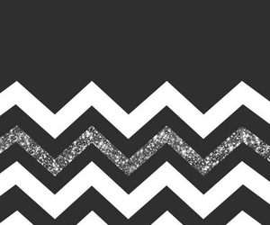 black and white, sparkly, and chevron image