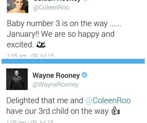 baby, coleen rooney, and wazza image