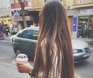 hair, long hair, and pretty image