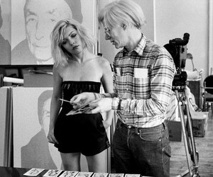 debbie harry, 70s, and andy warhol image