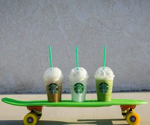starbucks, penny, and skate image